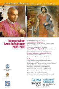 Inaugurazione Anno Accademico 2018-2019 @ Chiesa S. Alfonso